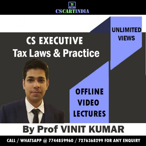 CS Executive Taxation Video Lectures