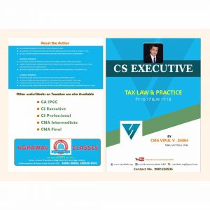 CS Executive Tax Laws by CMA Vipul Shah