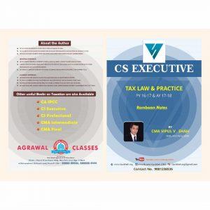 CS Executive Tax Laws Summary Notes by CMA Vipul Shah