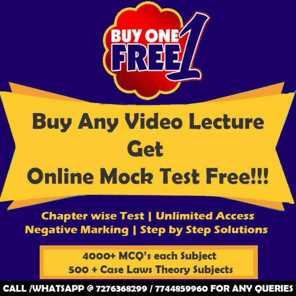CS Executive Tax Laws Fastrack Video Lectures by CMA Vipul Shah