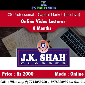CS Professional Capital Commodity Money Market Online Video Lectures