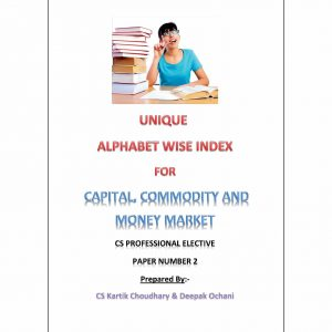 Capital, Commodity and Money Market - Alphabet wise index (March 2017 Edition)