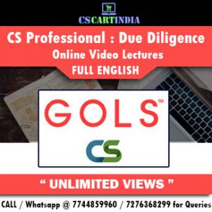 CS Professional Full English Due Diligence Online Lectures