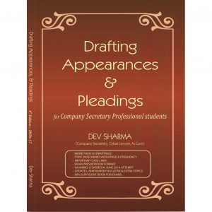 Drafting, Appearances and Pleadings Book by CS Dev Sharma