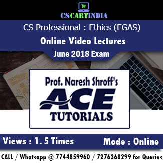 CS Professional Ethics Governance and Sustainability Online Video Lectures by Ace Tutorials