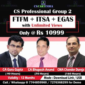 CS Professional Group 2 Video Lectures Combo (ITSA + FTFM + EGAS)