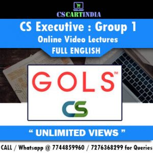 CS Executive Full English Group 1 Online Lectures