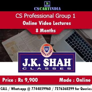 CS Professional Online Classes Group 1 by J K SHAH Classes