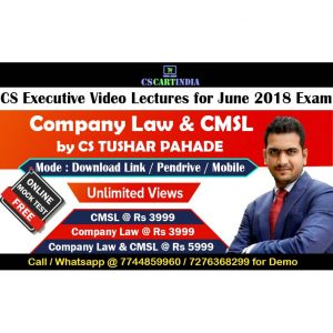 CS Executive Company Law CMSL Video Lectures Combo