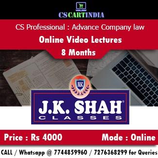 CS Professional Advance Company Law Online Video