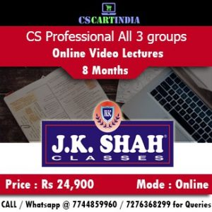CS Professional Online Classes All subjects by J K SHAH Classes