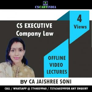CS Executive Company Law Video Lectures by CA Jaishree Soni