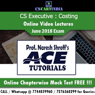 CS Executive Cost Management Accounting Online Video Lectures
