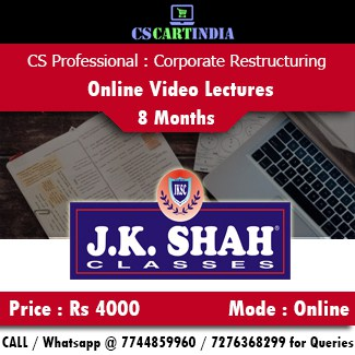 CS Professional Corporate Restructuring CRVI Online Video Lectures