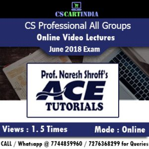 CS Professional Online Classes All subjects by Ace Tutorials