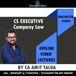 New Syllabus Company Law Video Lectures by CA Amit Talda