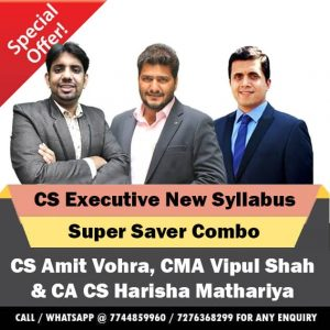 CS Executive New Syllabus Video Lectures Combo