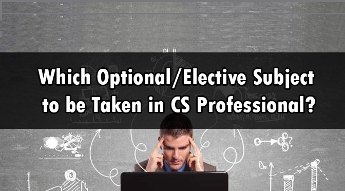 ELECTIVE SUBJECT CS PROFESSIONAL