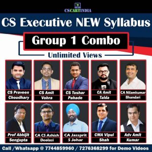 CS Executive New Syllabus Group 1 Video Lectures Combo