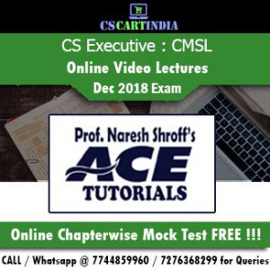 CS Executive CMSL Online Video Lectures