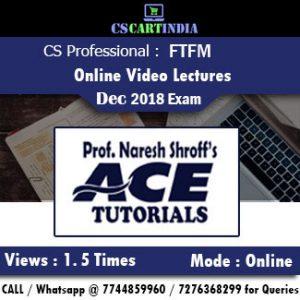 CS Professional FTFM Online Video Lectures