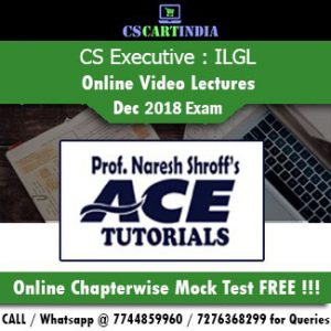 CS Executive ILGL Online Video Lectures