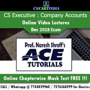 CS Executive Company Accounts Auditing Online Video Lectures