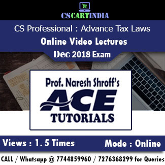 CS Professional Advance Tax Laws Online Video Lectures