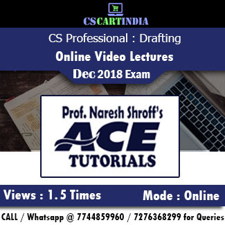 CS Professional Drafting Online Video Lectures