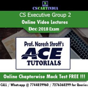 CS Executive Online Classes Group 2 by Ace Tutorials
