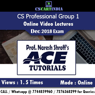 CS Professional Online Classes Group 1 by Ace Tutorials