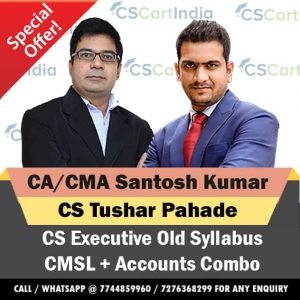 CS Executive CMSL Accounts Video Lectures