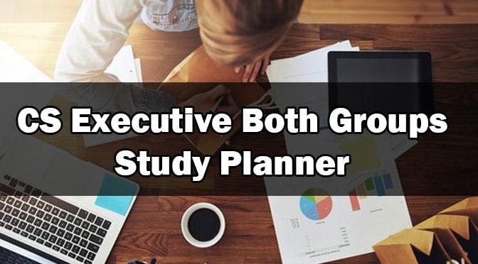 CS Executive Study Plans