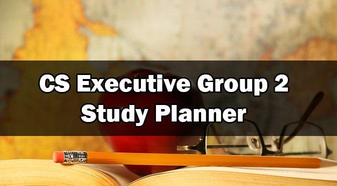 CS Executive Study Planner