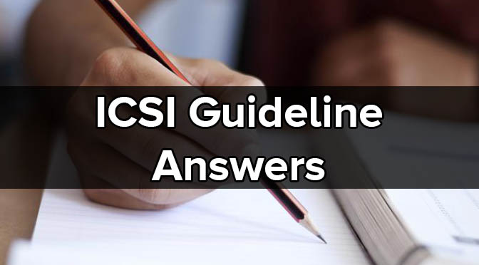 CS Executive ICSI Guideline Answers