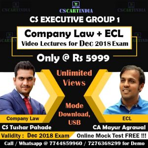 ECL Video Lectures by CS Tushar Pahade