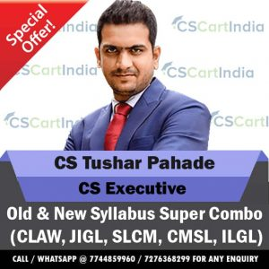 CS Tushar Pahade CS Executive All Law Subjects Combo