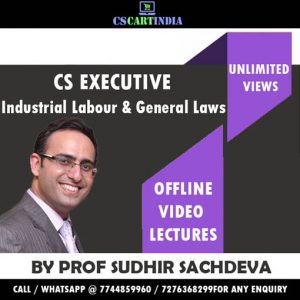Prof Sudhir Sachdeva CS Executive ILGL Video Classes
