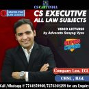 CS Executive Sanyog Vyas Video Lectures