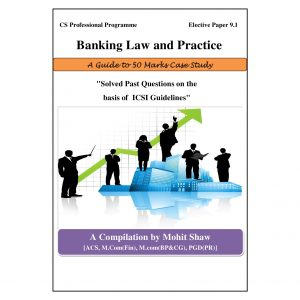 CS Professional Banking Laws Case Study Book (Elective Subject)