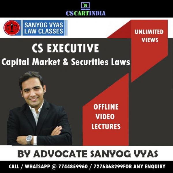 CS Executive CMSL Video Lectures by Sanyog Vyas