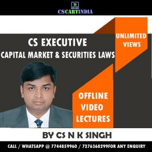 CS Executive CMSL Video Classes by CS N K Singh