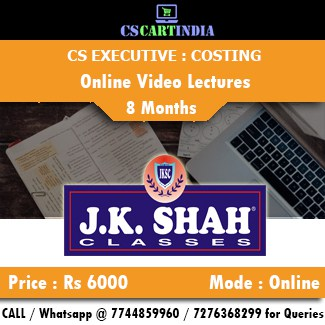 CS Executive Cost Management Accounting Online Video