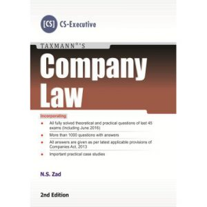 COMPANY LAW BY N.S ZAD