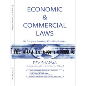 Economic & Commercial Laws Book BY CS Dev Sharma