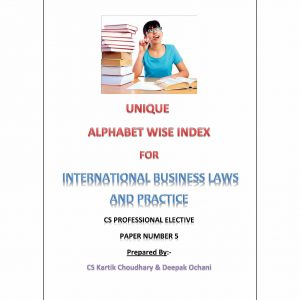 International Business Laws and Practices - Alphabet wise index (July 2015 Edition)
