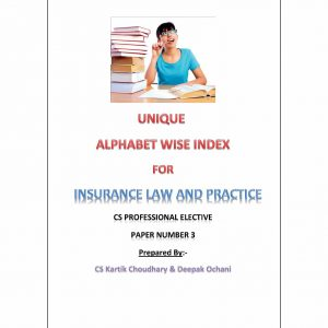 Insurance Law and Practice - Alphabet wise index (July 2015 Edition)