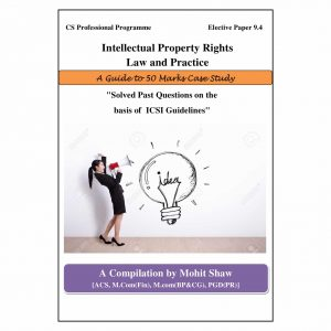 CS Professional IPR Case Study Book (Elective Subject - Intellectual Property Rights)