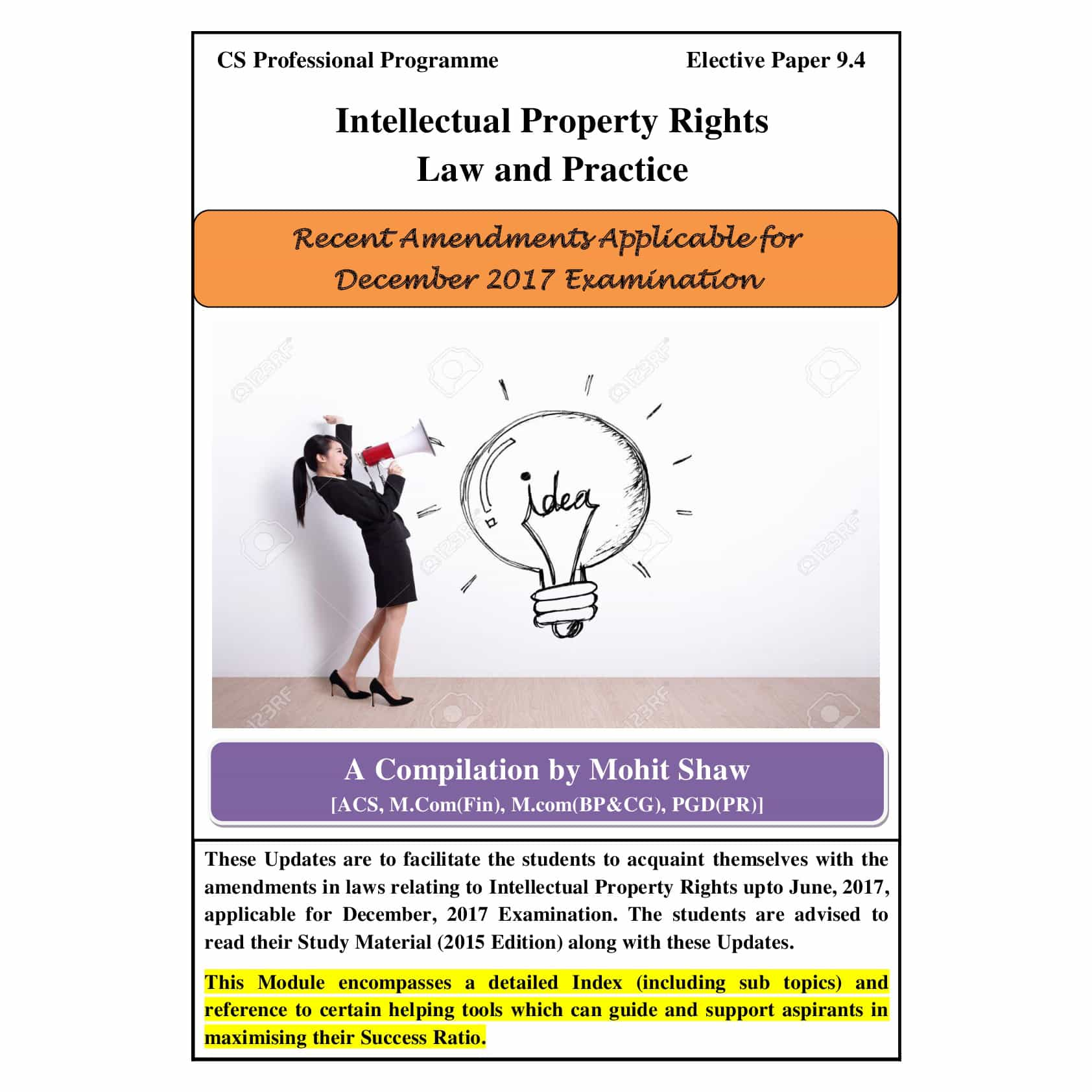 Intellectual Property Rights Course Syllabus