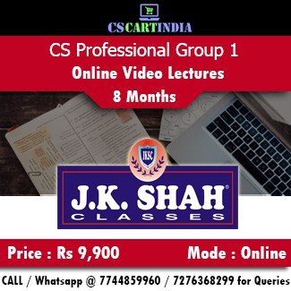 CS Professional Online Classes Group 1 by J K SHAH Classes